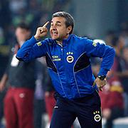 Fenerbahce's coach Aykut Kocaman during their Turkish superleague soccer derby match Fenerbahce between Galatasaray at the Sukru Saracaoglu stadium in Istanbul Turkey on Sunday 12 May 2013. Photo by Aykut AKICI/TURKPIX