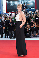 """Andrea Osvart arriving to the premiere of """"Mother"""" as part of the 74th Venice International Film Festival (Mostra) in Venice, Italy on September 5, 2017. Photo by Marco Piovanotto/ABACAPRESS.COM"""