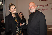 HALA FARES, FRANCESCO CLEMENTE; , Francesco Clemente Private view,  Emblems of Transformation. Blain Southern. London. 28 April 2015