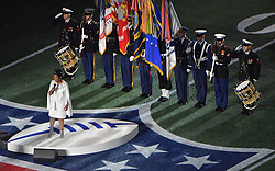 Gladys Knight performs the national anthem before the New England Patriots play the Los Angeles Rams in Super Bowl LIII at Mercedes-Benz Stadium in Atlanta, GA, USA on Sunday, February 3, 2019. Photo by Hyosub Shin/Atlanta Journal-Constitution/TNS/ABACAPRESS.COM