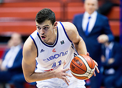 Ante Zizic of Cibona during basketball match between KK Cibona Zagreb (CRO) and KK Mornar (MNE) in Round #4 of FIBA Champions League 2016/17, on November 9, 2016 in Drazen Petrovic Basketball center, Zagreb, Croatia. Photo by Vid Ponikvar / Sportida