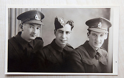 Pic of David's dad, James Buchanan McAllister, middle, serving in the 51st Highlanders..COLLECT PICS from the half-Scottish Prime Minister David McAllister of Lower Saxony..©Michael Schofield.