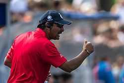 coach Harendra Singh of India during the Champions Trophy match between the Netherlands and India on the fields of BH&BC Breda on June 30, 2018 in Breda, the Netherlands