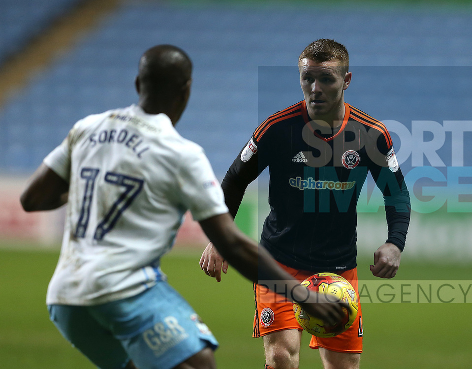 John Fleck of Sheffield Utd  during the English League One match at the Rioch Arena Stadium, Coventry. Picture date: December 15th, 2016. Pic Simon Bellis/Sportimage