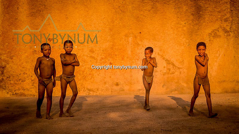 bushmen boys in namibia africa