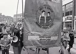 May Day parade, Derby 5 May 1984 UK.