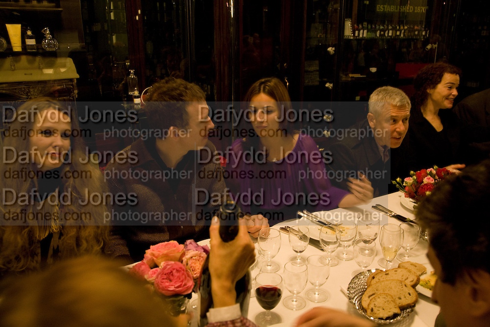 NINA MAGNIUS-DOTTIR; MARTIN CREED; HEIDI COOK, U2'S ADAM CLAYTON. Henry Moore Exhibition. Hauser and Wirth. 15 Old Bond St. and afterwards dinner at the Burlington arcade. 14 October 2008 *** Local Caption *** -DO NOT ARCHIVE -Copyright Photograph by Dafydd Jones. 248 Clapham Rd. London SW9 0PZ. Tel 0207 820 0771. www.dafjones.com