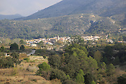 Landscape scenery village of Vall de Ebo, Marina Alta, Alicante province, Spain