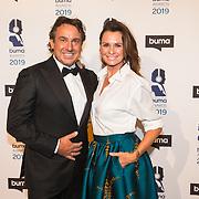 NLD/Hilversum/20190311  - Uitreiking Buma Awards 2019, Marco Borsato en partner Leontien Borsato