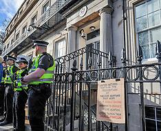 Anti nuclear protest at US Consulate, Edinburgh, 18 February 2019