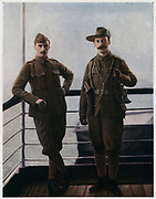 Officers of the City of London Imperial Volunteers on board ship on their way to the war in South Africa. 1900. 2nd Boer War 1899-1902