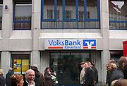 Duitsland, Kleef, 9-11-2008Filiaal van de Volksbank in deze stad vlakbij Nijmegen. Foto: Flip Franssen/Hollandse Hoogte