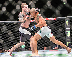 Stevie Ray, from Scotland. beats Leonadro Mafra, from Brazil, during the UFC Fight Night at Glasgow on Saturday, July 18 at The SSE Hydro, Glasgow. The UFC Fight Night 72 event was the first the promotion had been hosted in Scotland.