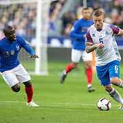 PARIS, FRANCE - March 25:  Ragnar Sigurdsson #6 of Iceland defended by Ngolo Kanté #13 of France during the France V Iceland, 2020 European Championship Qualifying, Group Stage at  Stade de France on March 25th 2019 in Paris, France (Photo by Tim Clayton/Corbis via Getty Images)