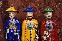 Porcelain figurines for sale, at the Xuan Kong Si, or Hanging Temple, 1800 years old, Beiyue Hengshan Mountain, Datong, Hunyuan County, Shanxi Province, China