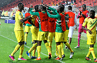 PORT ELIZABETH, SOUTH AFRICA - FEBRUARY 09, Mali celebrates second goal during the 2013 Orange African Cup of Nations 3rd and 4th Play-Off match between Mali and Ghana from Nelson Mandela Bay Stadium on February 09, 2013 in Port Elizabeth, South Africa<br /> Photo by Richard Huggard / Gallo Images