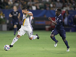June 24, 2017 - Carson, California, U.S - Jose Villareal #33 of Los Angeles Galaxy with the ball during their game against Sporting KC at the StubHub Center on Saturday June 24, 2017 in Carson, California.  LA Galaxy loses to Sporting KC, 2-1. (Credit Image: © Prensa Internacional via ZUMA Wire)
