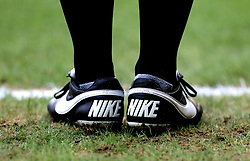 A General view of a pair of Nike trainers during the Premier League match at the King Power Stadium, Leicester.