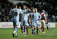 FA Cup Third Round Coventry City v Kidderminster Harriers 92-0) 03/01/2009 Photo Patrick McCann/Fotosports International Leon Best celebrates scoring Coventry's second.