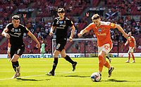 Blackpool's Elliot Embleton breaks <br /> <br /> Photographer Andrew Kearns/CameraSport<br /> <br /> The EFL Sky Bet League One Play-Off Final - Blackpool v Lincoln City - Sunday 30th May 2021 - Wembley Stadium - London<br /> <br /> World Copyright © 2021 CameraSport. All rights reserved. 43 Linden Ave. Countesthorpe. Leicester. England. LE8 5PG - Tel: +44 (0) 116 277 4147 - admin@camerasport.com - www.camerasport.com