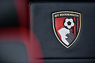 AFC Bournemouth badge logo dugout seat during the Premier League match between Bournemouth and West Ham United at the Vitality Stadium, Bournemouth, England on 19 January 2019.