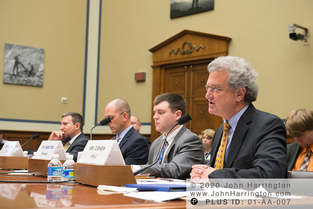 Mr. Richard Cohen,President,Southern Poverty Law Center testifies on Wednesday September 14, 2017 hearing before the U.S. House Subcommittee on National Security hearing to address the scope of radicalization, and assess what steps can be taken to mitigate the rise of terror via lone wolf attacks and organized terrorist plots, with testimony by Mr. Daveed Gartenstein-Ross, Senior Fellow, Foundation for Defense of Democracies; Mr. Matt Mayer, Visiting Fellow, Homeland Security Studies, American Enterprise Institute; Mr. David Inserra, Policy Analyst, Foreign and National Security Policy, The Heritage Foundation; Mr. Richard Cohen,President,Southern Poverty Law Center.
