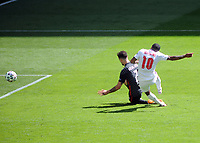 Football - 2021 EUFA European Championships - Finals - Group D - England vs Croatia, Wembley Stadium<br /> <br /> Raheem Sterling of England scores his goal with team mates<br /> <br /> Credit : COLORSPORT/Andrew Cowie