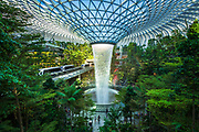 Jewel indoor waterfall at Changi Airport, Singapore, Republic of Singapore