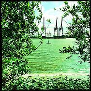 Hamburg Homage #075 Hafen Photography, C-Print, 2014, 20 x 20 cm. © Nero Pécora/La pared