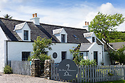 The world renowned gastronomic five star restaurant The Three Chimneys on the Isle of Skye in Scotland