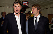 Zac Goldsmith and Ben Goldsmith, Conservative Party Chairmen's Summer reception, House of Commons Terace, 7 July 2004. SUPPLIED FOR ONE-TIME USE ONLY-DO NOT ARCHIVE. © Copyright Photograph by Dafydd Jones 66 Stockwell Park Rd. London SW9 0DA Tel 020 7733 0108 www.dafjones.com