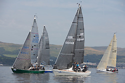 Largs Regatta Festival 2019<br /> <br /> IRC Class 2 with Lady Ex, GBR6644R, Crystal Clear  and Pheonix