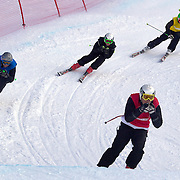 Action from the Ski Cross finals during the Winter Games at Cardrona, Wanaka, New Zealand, 27th August 2011. Photo Tim Clayton...