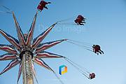 An amusement park ride at Coney Island, New York.