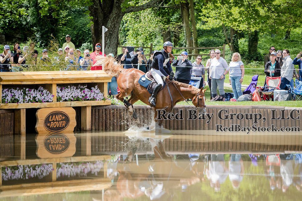 Leslie Law (GBR) and Voltaire de Tre' during the cross-country at the 2019 Land Rover Kentucky Three-Day Event presented by MARS EQUESTRIAN in Lexington, Kentucky