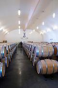 barrel aging cellar chateau la dauphine fronsac bordeaux france