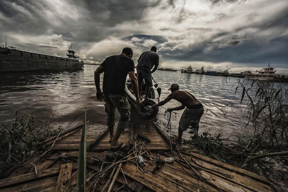 Brazil, Amazonas, rio Negro, Manaus. <br /> <br /> Educandos.