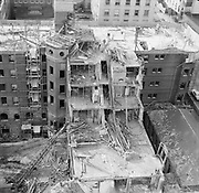 0001-E131-08. Razing of the Portland Hotel. Late October 1951. Photos by Gladys Smith. Taken from 14th floor of American Bank Building.