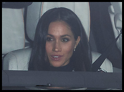 December 20, 2017 - London, London, United Kingdom - Image licensed to i-Images Picture Agency. 20/12/2017. London, United Kingdom.  Meghan Markle arriving for The Queen's Christmas lunch at Buckingham Palace in London. (Credit Image: © Stephen Lock/i-Images via ZUMA Press)