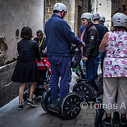 Mobility devices (segways, scooters, rickshaws, bicycles, etc.) appearing on sidewalks and in pedestrian zones as a form of leisure transport further contribute to the citizens' limitation of movement.