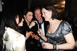 Left to right, LAUREN BARBER, ANASTASIA WEBSTER, GARY KEMP and LORRAINE GODDARD at a party following a private view of photographs by Lorraine Goddard entitled 'Out of Context' held at the Sanderson Hotel, Berners Street, London on 21st January 2010.