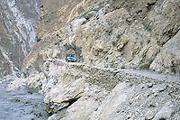 Pakistan. Northen Area. Hunza area. Jeep road to Shimshal valley. // Pakistan. Territoires du nord. Region de Hunza. Piste de jeep pour la valée de Shimshal.