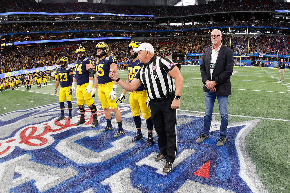 during the Chick-fil-A Peach Bowl, Saturday, December 29, 2018, in Atlanta. ( Paul Abell via Abell Images for Chick-fil-A Peach Bowl)