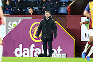 Bristol City Manager Lee Johnson looks on from the touchline. The Emirates FA cup 4th round match, Burnley v Bristol City at Turf Moor in Burnley, Lancs on Saturday 28th January 2017.<br /> pic by Chris Stading, Andrew Orchard Sports Photography.