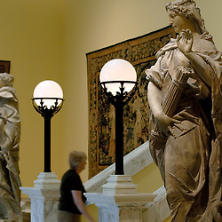 Impressive classical statues grace the entrance to the Medieval world in the Walter's Art Museum in the Mount Vernon neighborhood of Baltimore, Maryland...Photo by Susana Raab