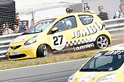 De Jumbo Racedagen, driven by Max Verstappen op Circuit Zandvoort. / The Jumbo Race Days, driven by Max Verstappen at Circuit Zandvoort.<br /> <br /> Op de foto / On the photo: Prinses Laurentien crashed tijdens de tweede ronde van de ladies GT race  /  Princess Laurentien crashed during the second round of the ladies GT race