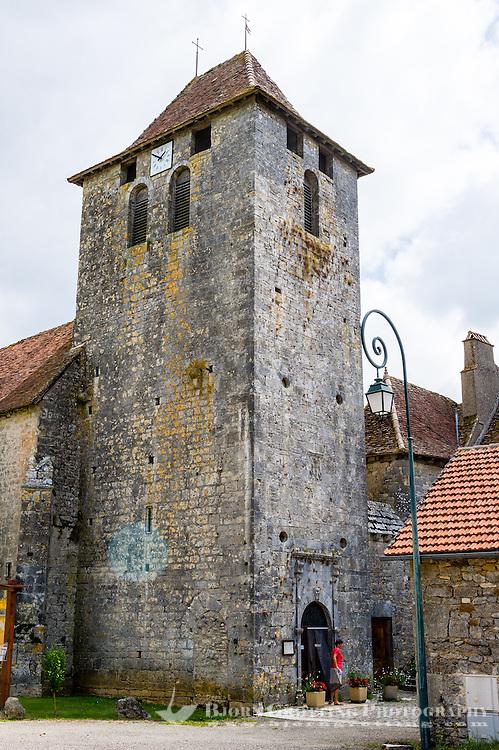 France, Cabrerets. Soulomès village, The old church.