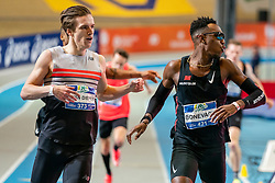Liemarvin Bonevacia, Tony van Diepen in action on the 400 meter during AA Drink Dutch Athletics Championship Indoor on 21 February 2021 in Apeldoorn.