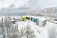 Narvik ungdomsskole sto klar for elever og lærere høsten 2020, på tomten for gamle Parken ungdomsskole.