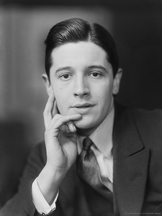 Ivor Novello, composer, singer and actor, 1916